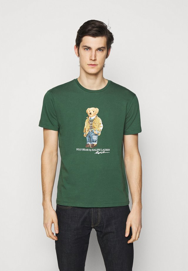 Print T-shirt - washed forest