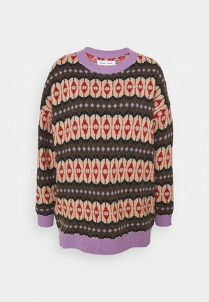 CONNIE CREW NECK - Strickpullover - purple/jasper
