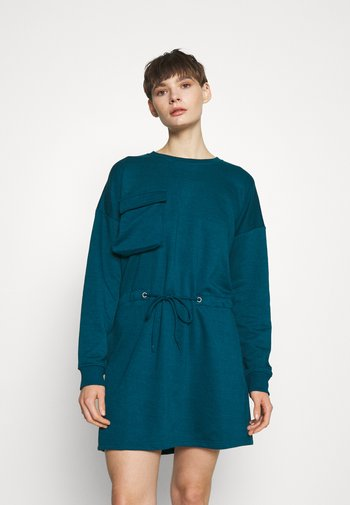 UTILITY POCKET DRESS - Day dress - teal