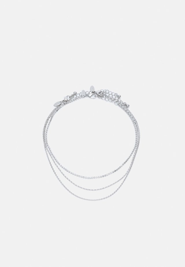FLORA CHOKER CHAIN 3 PACK - Kaulakoru - silver-coloured