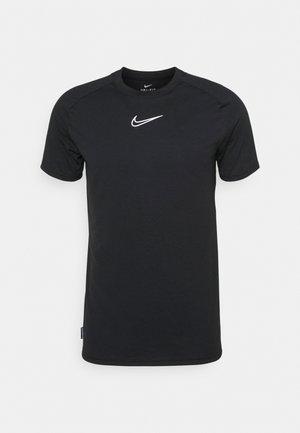 DRY - Camiseta estampada - black/black/white