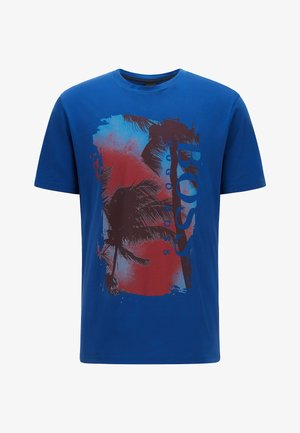 TSUMMERY - Print T-shirt - blue