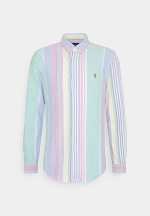 OXFORD SLIM FIT - Shirt - green/pink