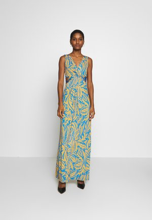 Maxi dress - yellow/blue