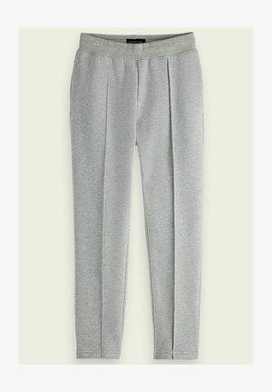 PLEATED SWEATPANTS - Tracksuit bottoms - grey melange