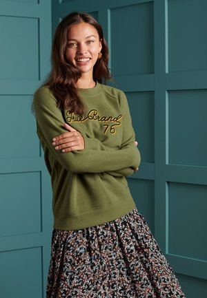 SOFT - Sweatshirt - drab overall green