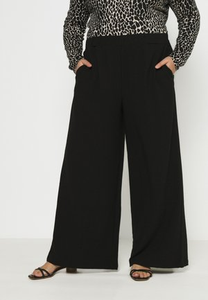 BELL TROUSERS - Kalhoty - black