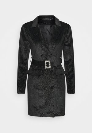COSTELLO BELTED DRESS - Robe fourreau - black
