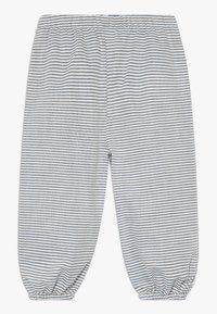 Müsli by GREEN COTTON - STRIPE BABY ZGREEN - Trousers - white/blue - 0