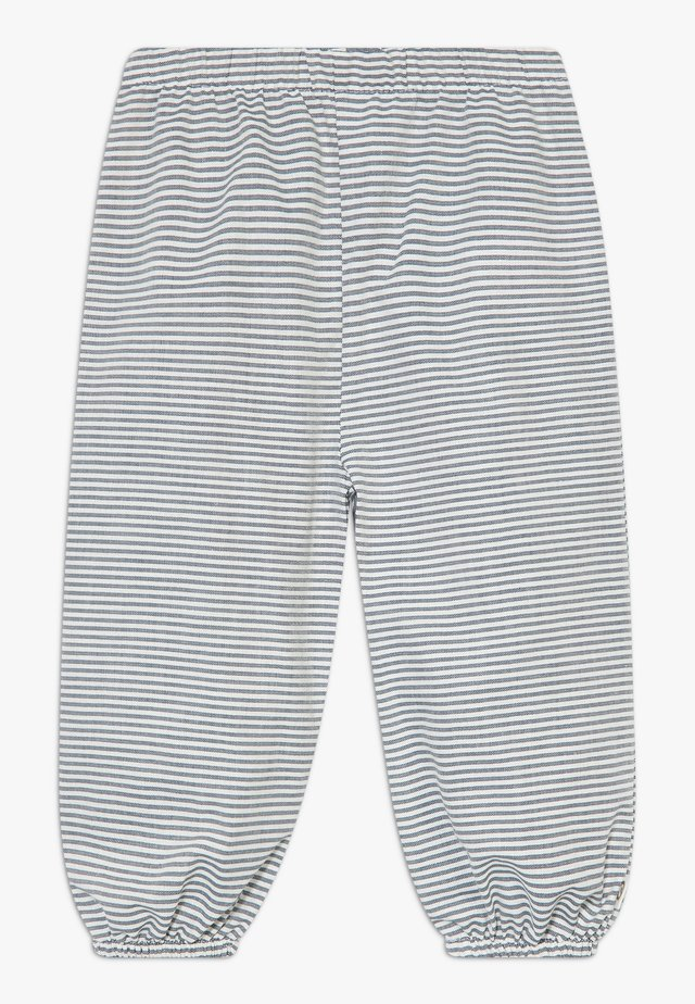 STRIPE BABY ZGREEN - Broek - white/blue