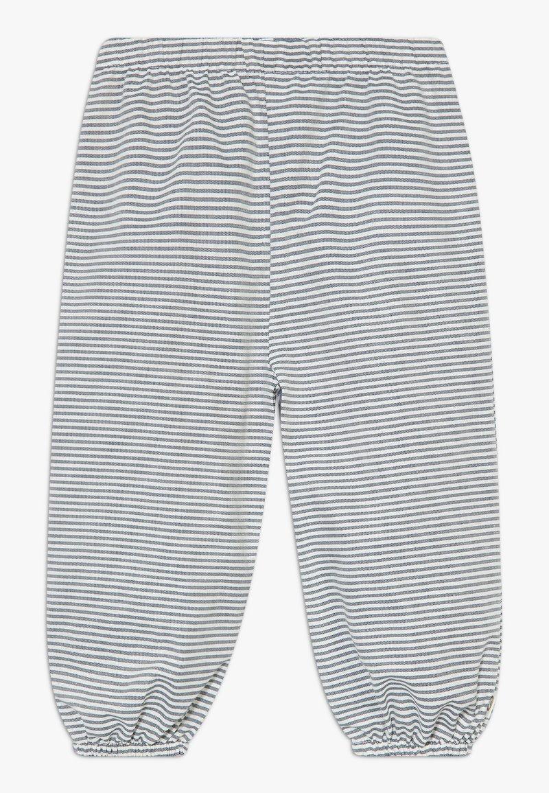 Müsli by GREEN COTTON - STRIPE BABY ZGREEN - Trousers - white/blue
