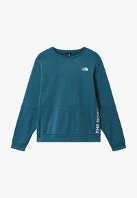 The North Face - M TRAIN N LOGO CREW - Sweatshirt - mallard blue - 0