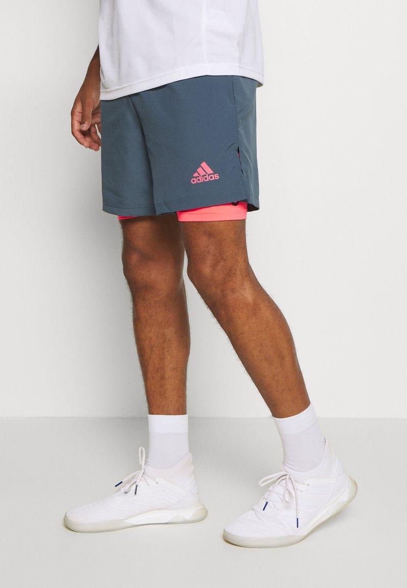 adidas Performance - SHORT - Short de sport - legblu/sigpink