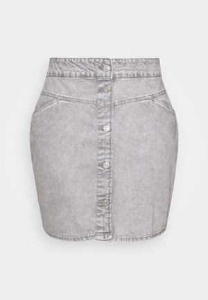 NMBE JUNE SHORT SKIRT - Mini skirt - light grey denim