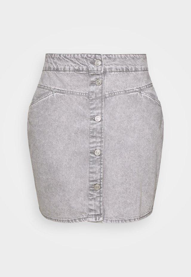NMBE JUNE SHORT SKIRT - Minigonna - light grey denim