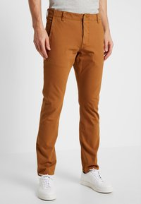 DOCKERS - SMART 360 FLEX ALPHA SKINNY - Chinos - dark ginger - 0