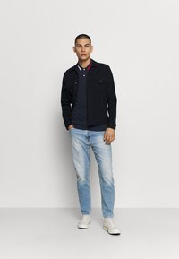 Tommy Jeans - FLAG NECK  - Poloshirts - twilight navy - 1
