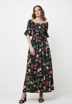 Maxi dress - schwarz, grün