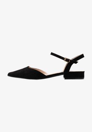 MYLAH - Ankle strap ballet pumps - black