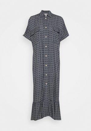 LIGHT MAXI DRESS - Skjortklänning - navy tile
