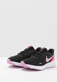 Nike Performance - REVOLUTION 5 - Neutral running shoes - black/beyond pink/flash crimson - 2