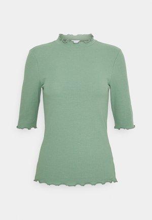 VIJULLA HIGH NECK - Basic T-shirt - hedge green