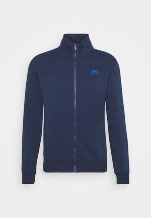 Zip-up sweatshirt - midnight navy/signal blue