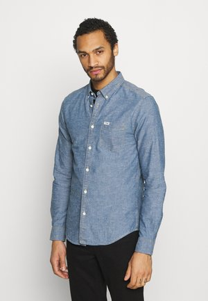 LS 1PKT BUTTON DOWN - Skjorta - mid indigo