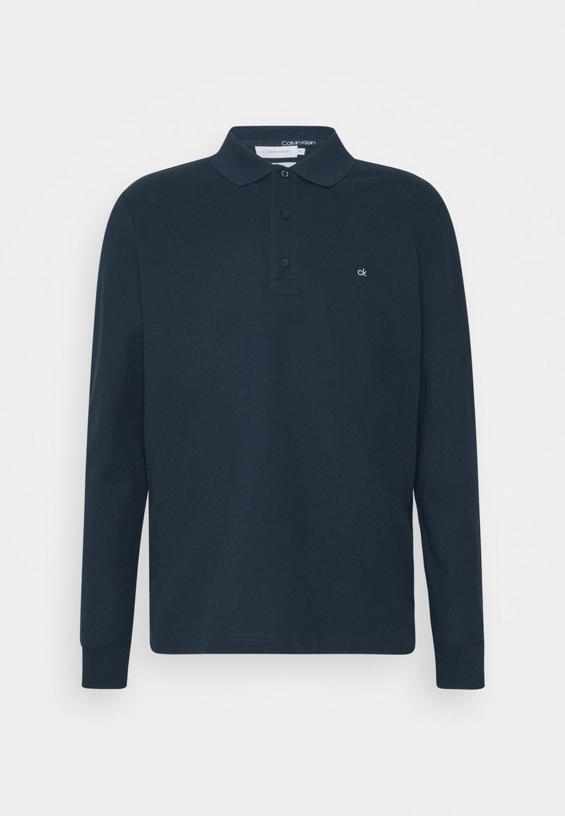 Calvin Klein - REFINED LONG SLEEVE  - Polo shirt - blue