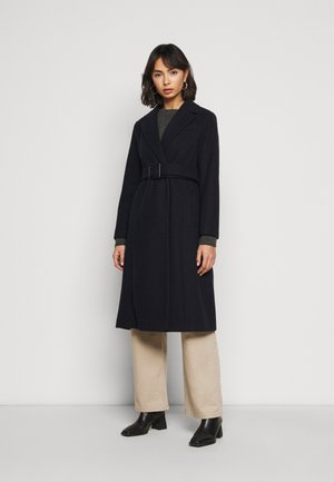 BELTED WRAP COAT - Mantel - navy