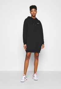 Nike Sportswear - HOODIE DRESS - Day dress - black - 1