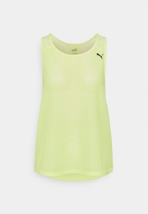 TRAIN TANK - Top - soft fluo yellow
