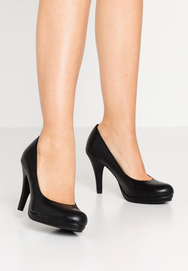High Heel Pumps - black matt