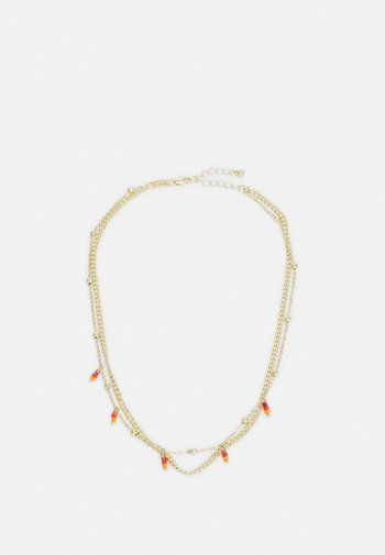PCTULLE COMBI NECKLACE - Necklace - gold-coloured/orange