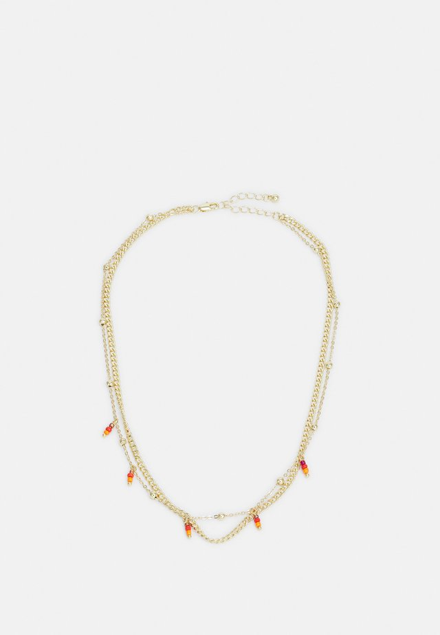 PCTULLE COMBI NECKLACE - Necklace - gold-coloured/orange