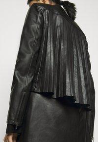 RIANI - Leather jacket - black - 5