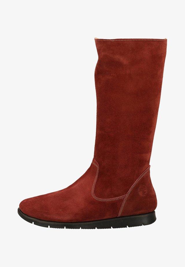 Boots - burgundy