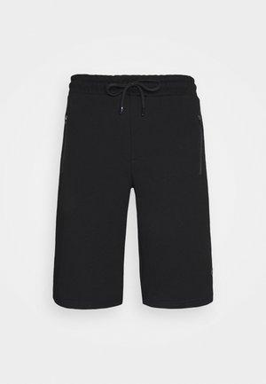 SHORTS - Sports shorts - schwarz/bordo