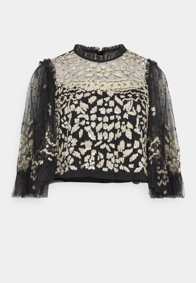 ANAÏS SEQUIN TOP - Blusa - graphite
