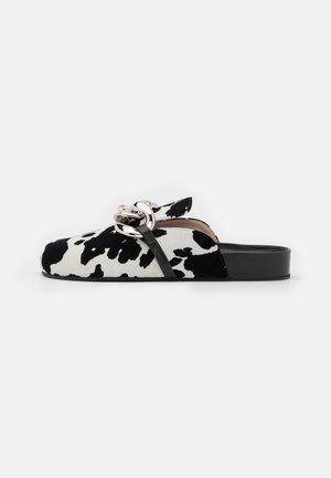 Mules - black/white