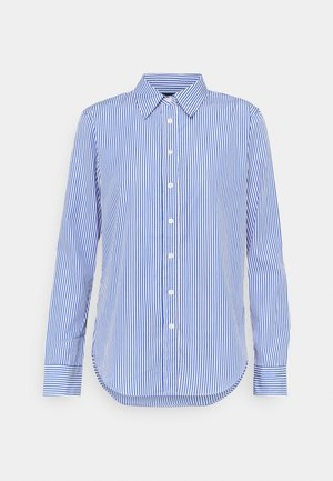 Button-down blouse - blue/white