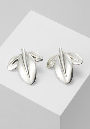 MY NATURE L CHARM LEAF EARRING - Orecchini - silver-coloured