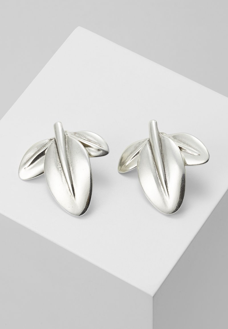 UNOde50 - MY NATURE L CHARM LEAF EARRING - Boucles d'oreilles - silver-coloured