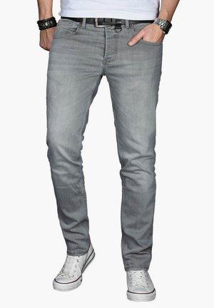 Slim fit jeans - hellgrau
