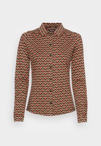 King Louie - BLOUSE RESIDENCE - Button-down blouse - berry red - 3