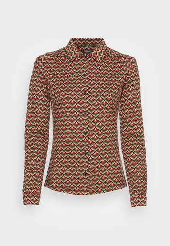 BLOUSE RESIDENCE - Button-down blouse - berry red