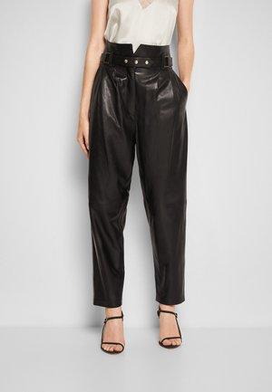 KIN - Kožené kalhoty - black