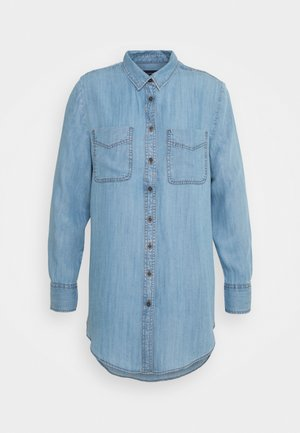 RELAXED - Button-down blouse - blue denim