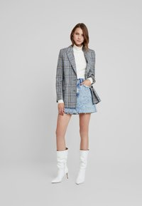 Abercrombie & Fitch - MINI SKIRT - A-line skirt - blue - 1