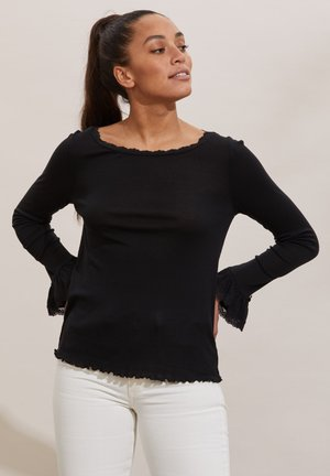 Long sleeved top - almost black